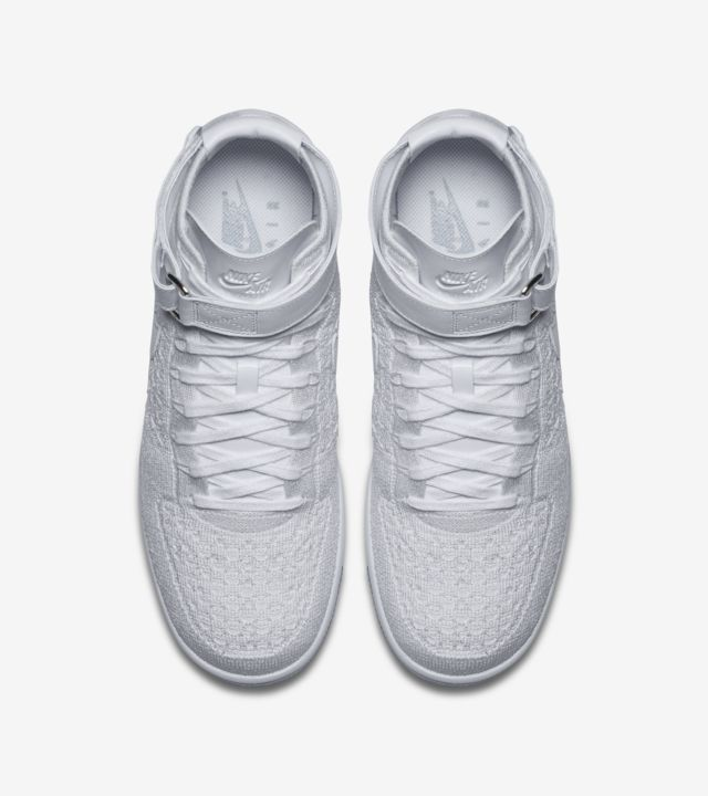 Nike Air Force 1 Ultra Flyknit Mid 'Triple White' Release
