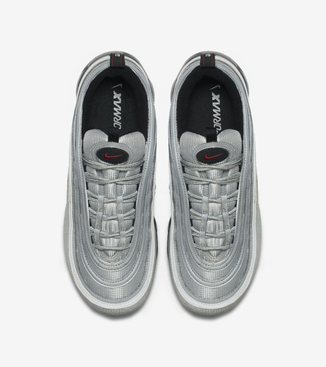 Nike Air Vapormax 97 'Metallic Silver & Varsity Red' Release