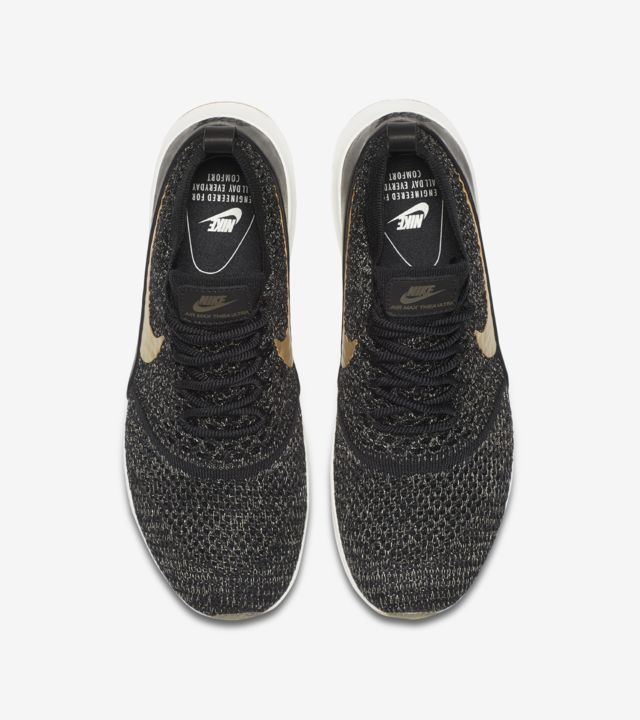 Women's Nike Air Max Thea Ultra Flyknit Metallic 'Black