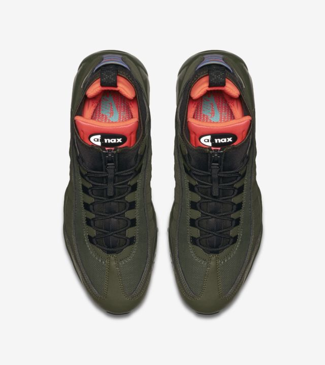 Nike Air Max 95 Sneakerboot 'Dark Loden & Cargo Khaki'. Nike