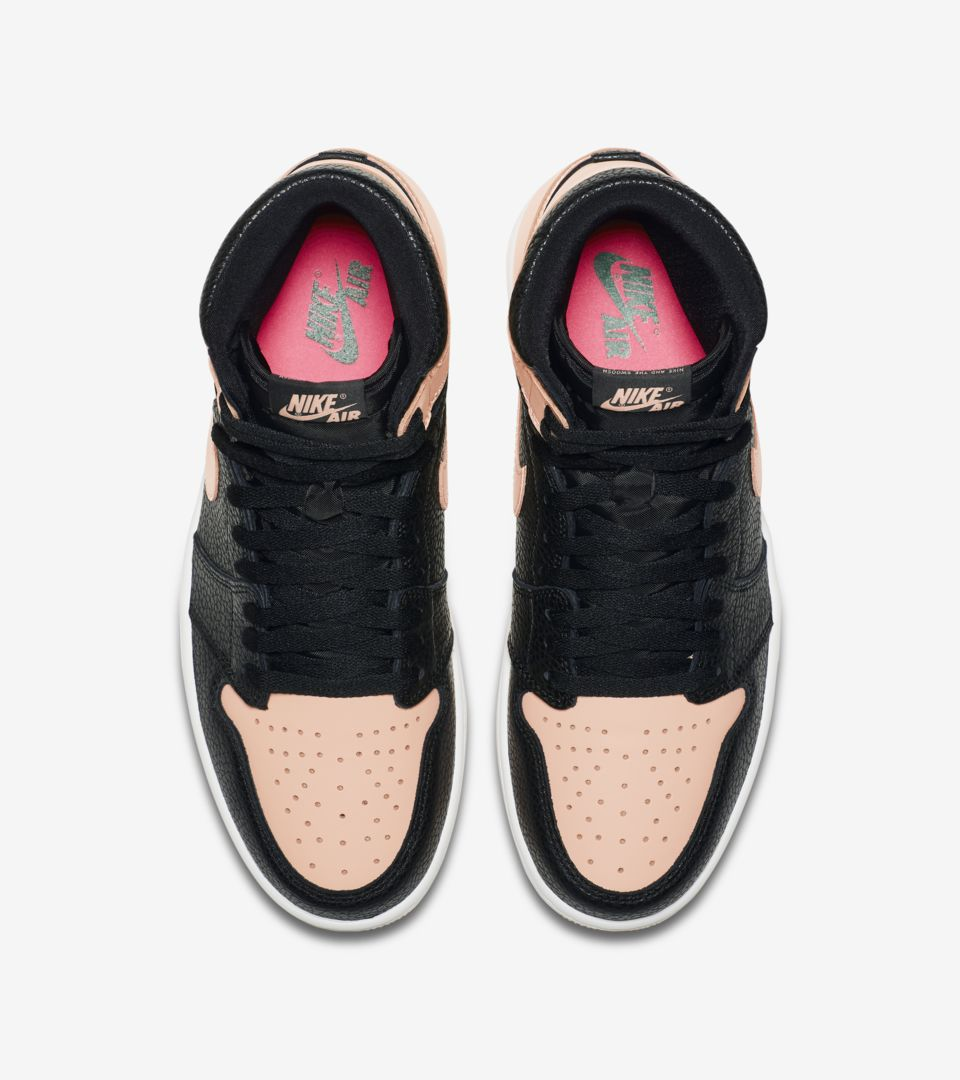 Hyper DateNike Air Jordan 'blackamp; Pink' 1 Release vn80mwNO