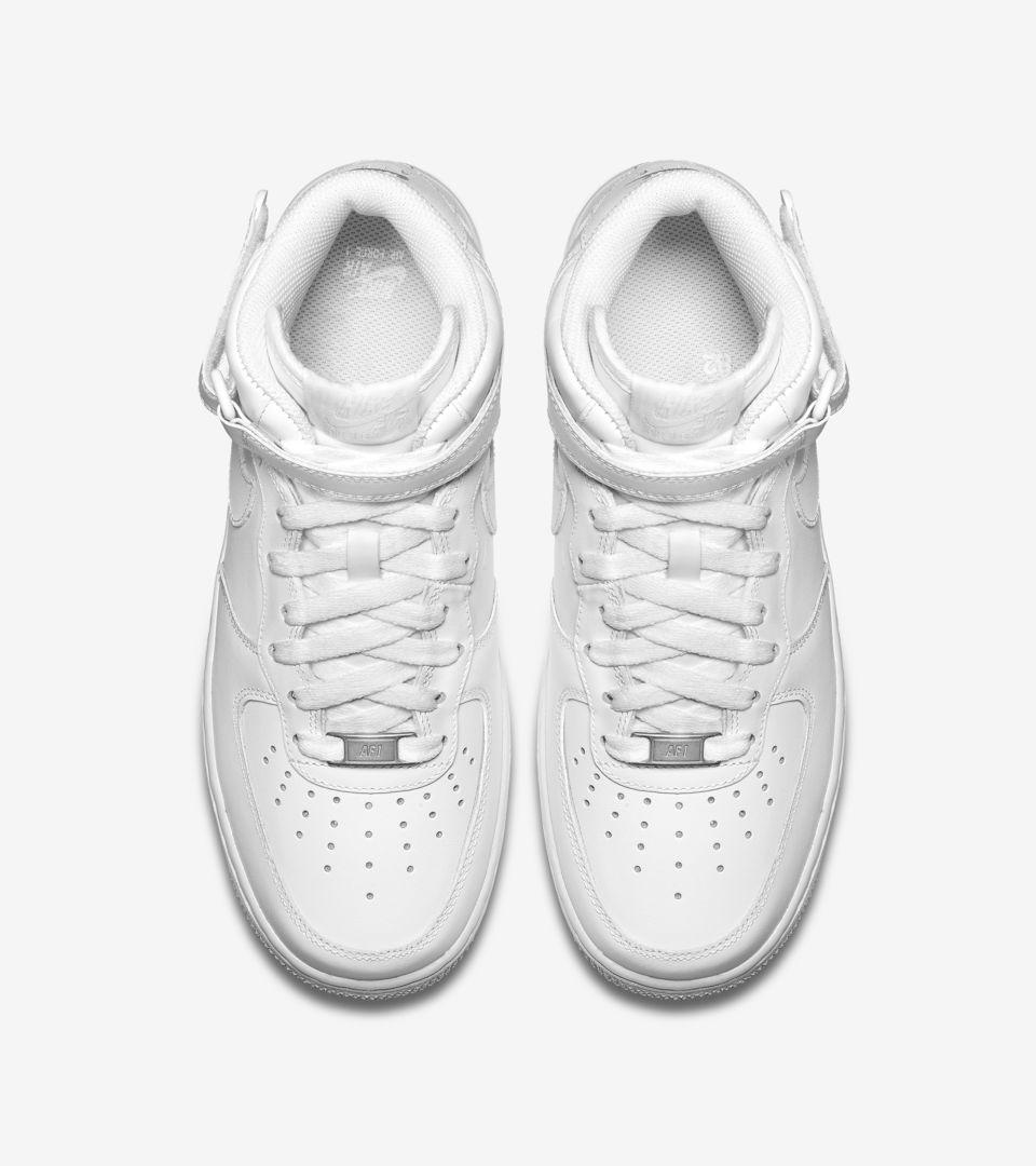 1 Force Leather Air Women's 'triple Mid White'Nike 07 Nike EDWH9YI2