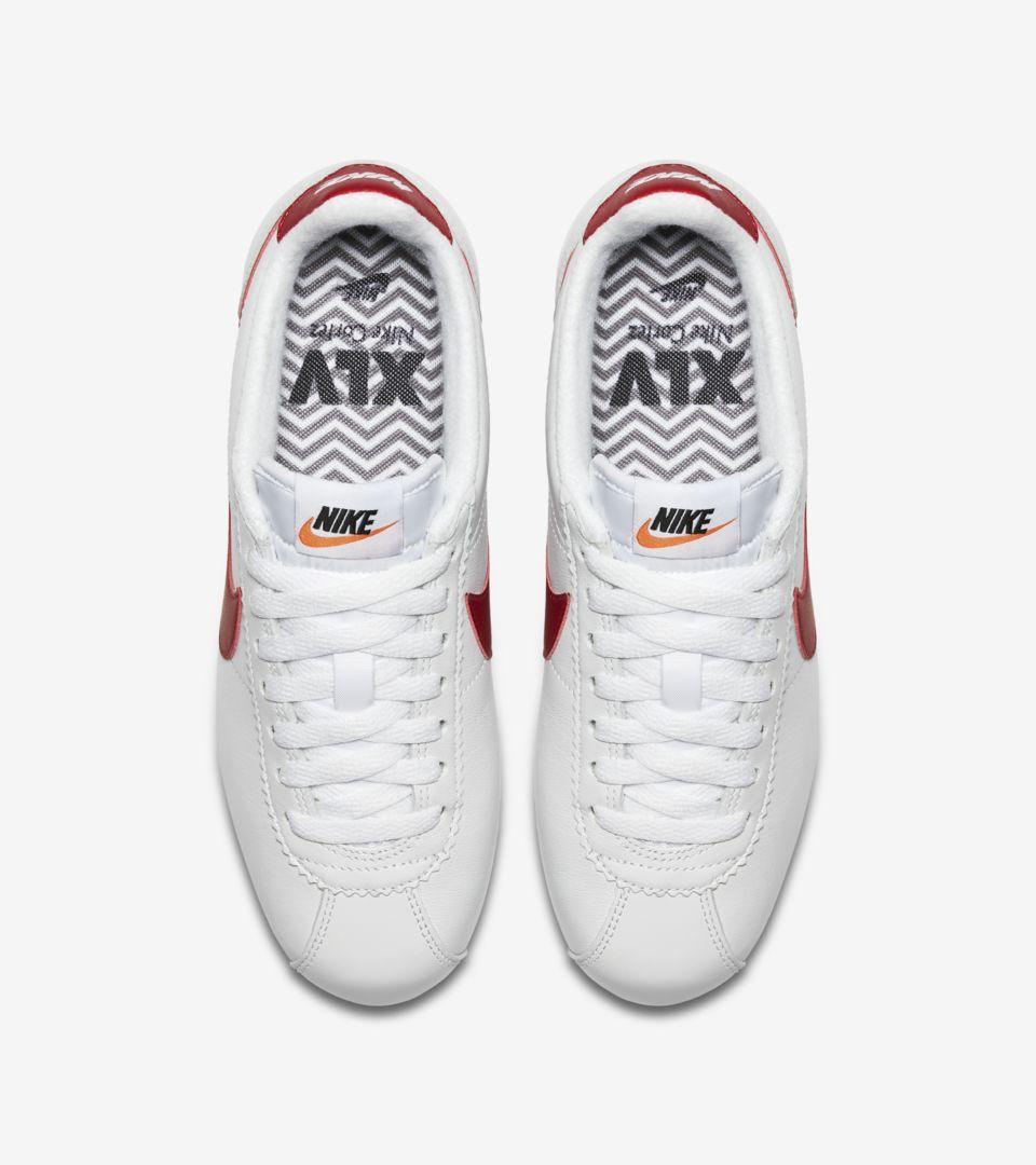 de72f850c503 Women s Nike Classic Cortez Premium  White   Varsity Royal   Varsity ...