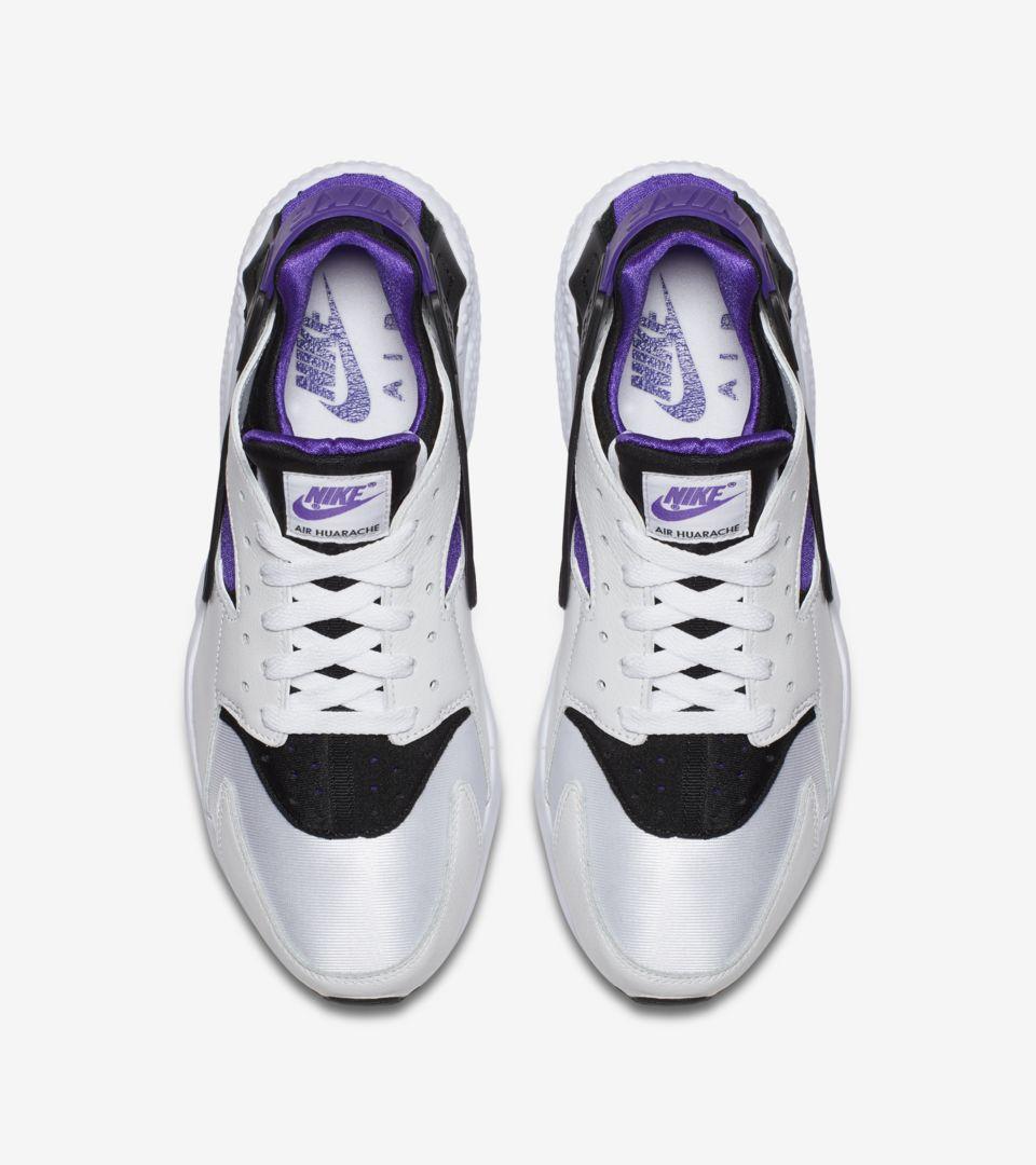 newest 541eb 80163 Nike Air Huarache Run '91 'White & Purple Punch' Release ...