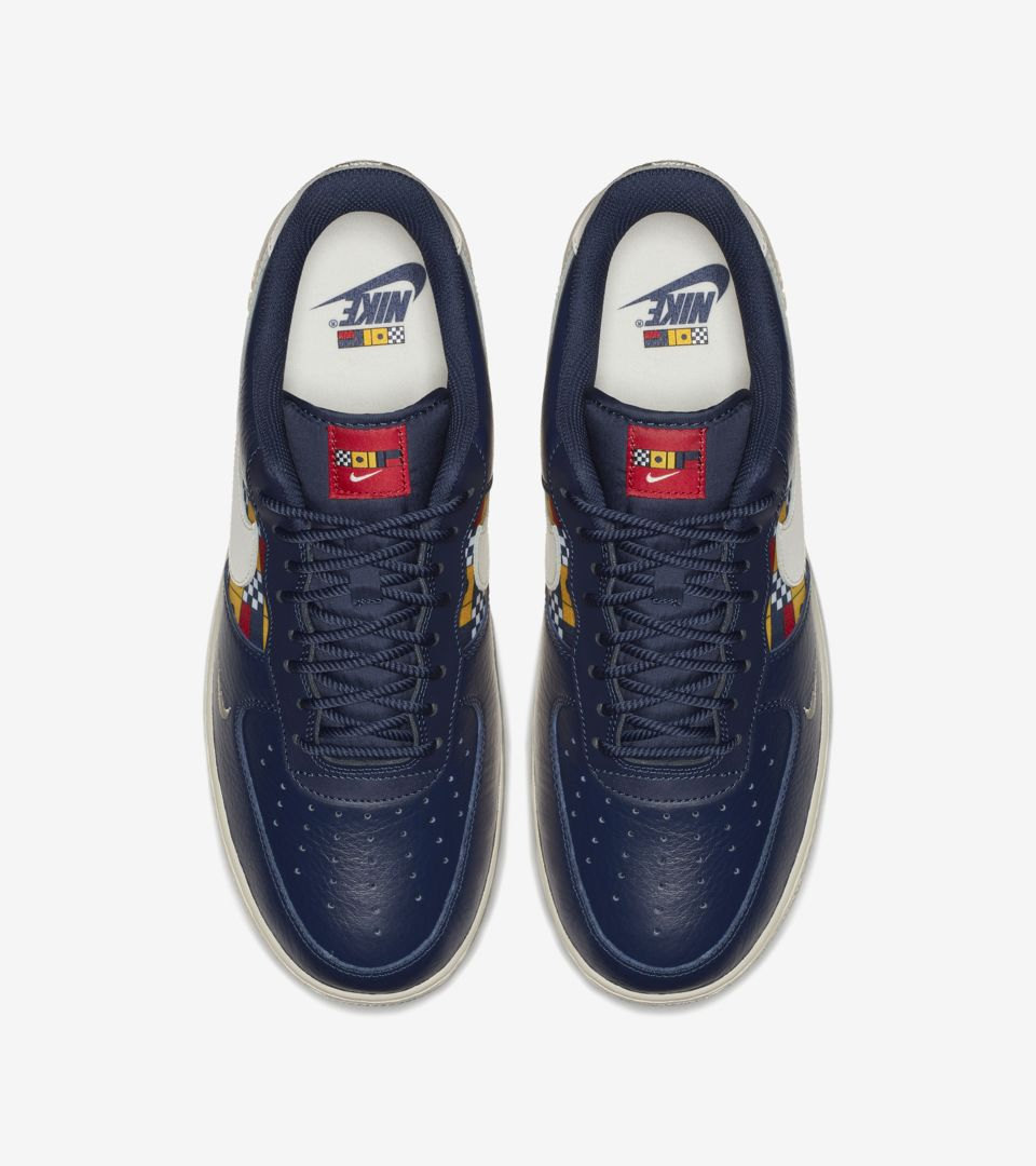 size 40 1c020 ee71d Nike Air Force 1 Low  Midnight Navy   University Gold  ...