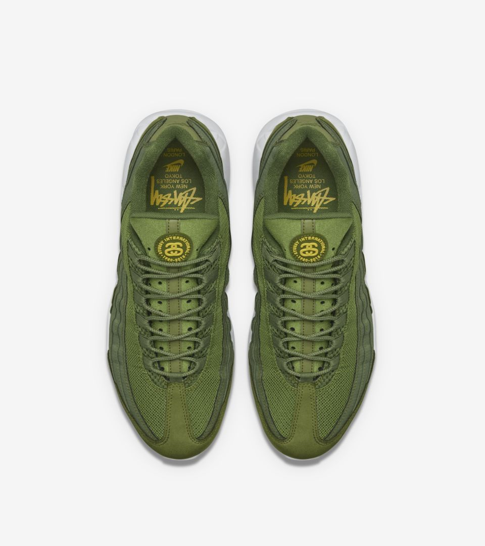 revolución ácido Limitado  Nike Air Max 95 Stussy 'Olive'. Nike SNKRS