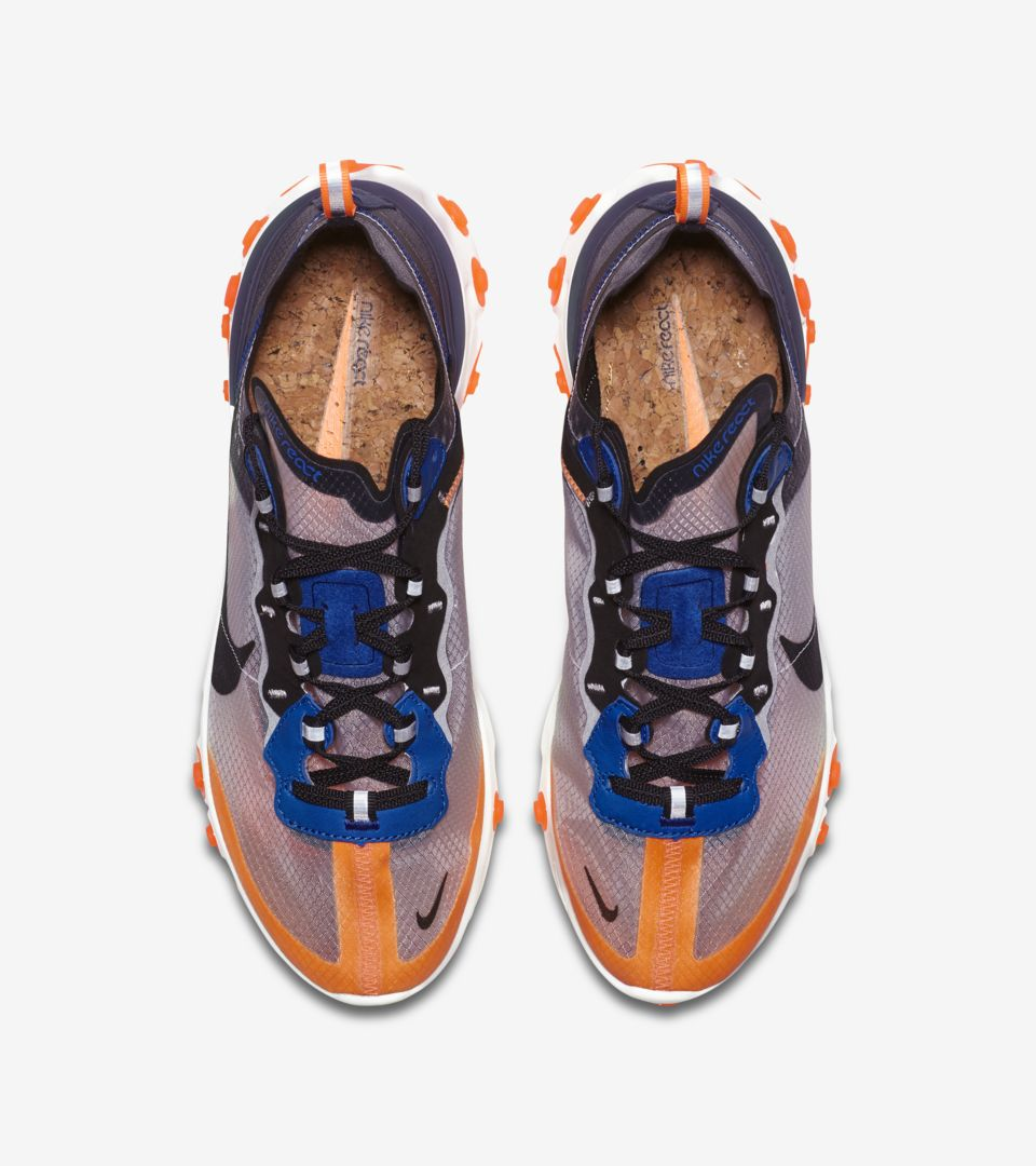 254ac8219120 Nike React Element 87  Total Orange   Black   Thunder Blue  Release ...