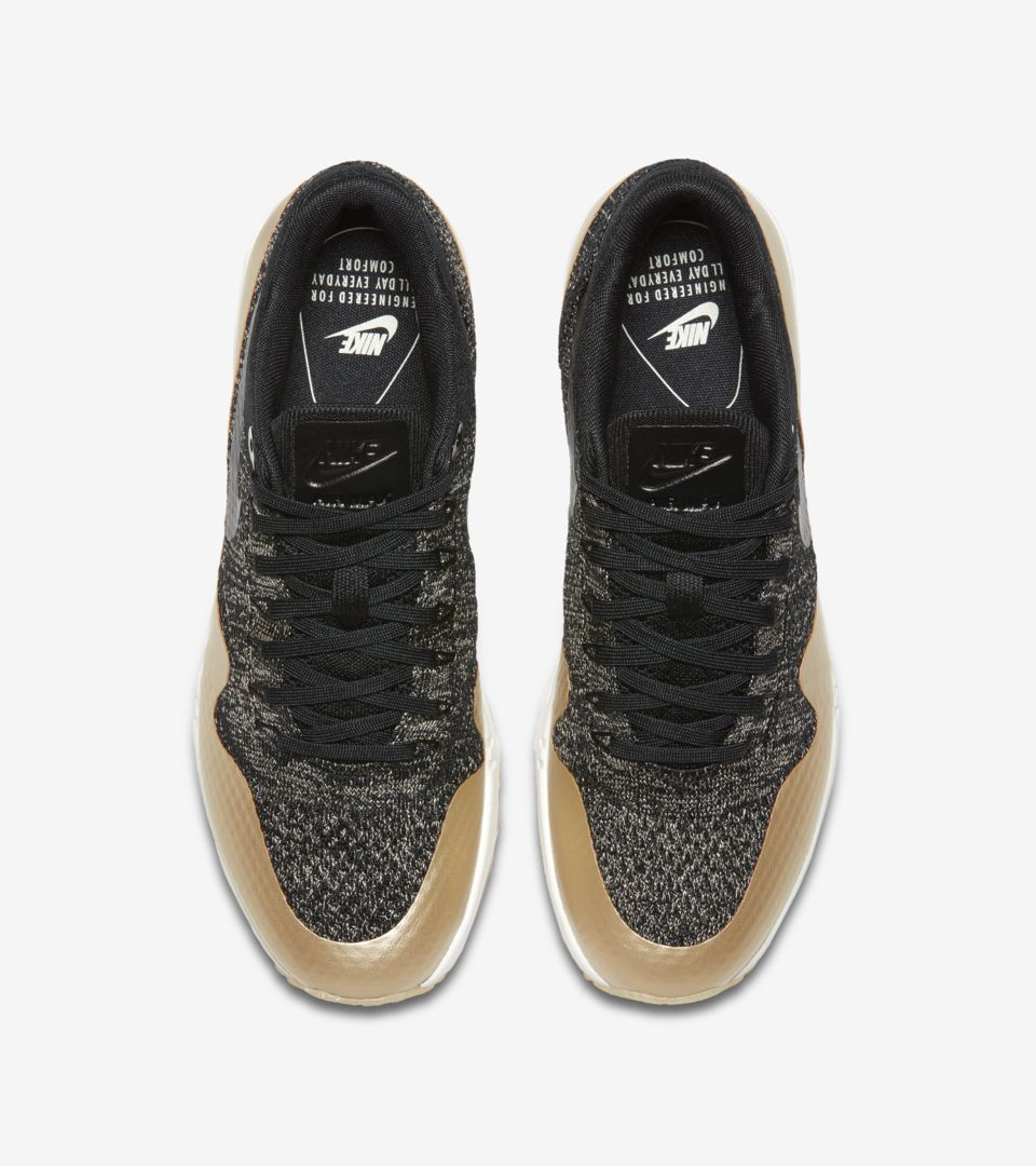 Women's Nike Air Max 1 Ultra 2.0 Flyknit Metallic 'Black