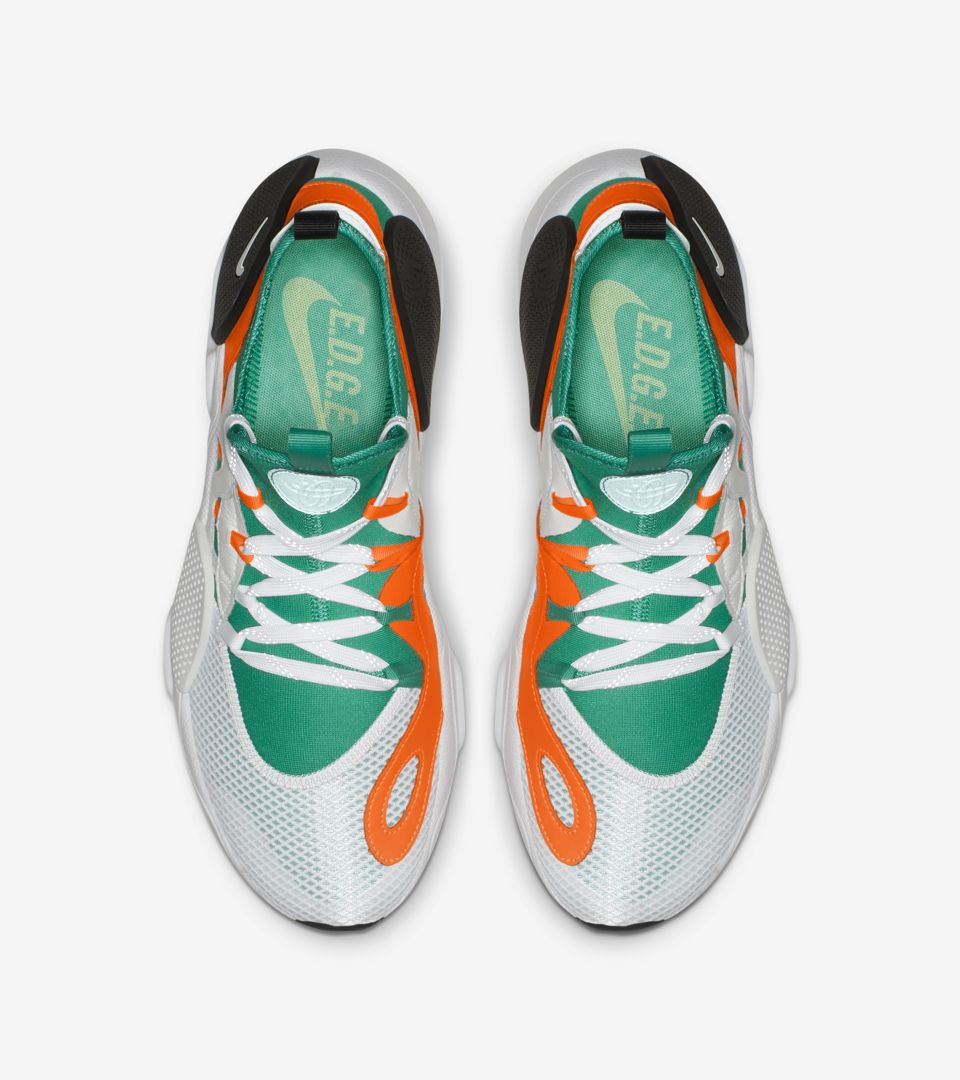 san francisco 89aeb 5f94e ... Nike Huarache E.D.G.E. TXT QS  White   Clear Emerald   Total Orange  ...