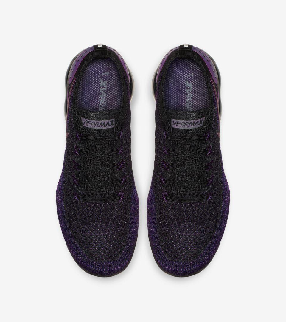 sports shoes f7180 28b35 Nike Air Vapormax Flyknit 2 'Black & Vivid Purple & Night ...