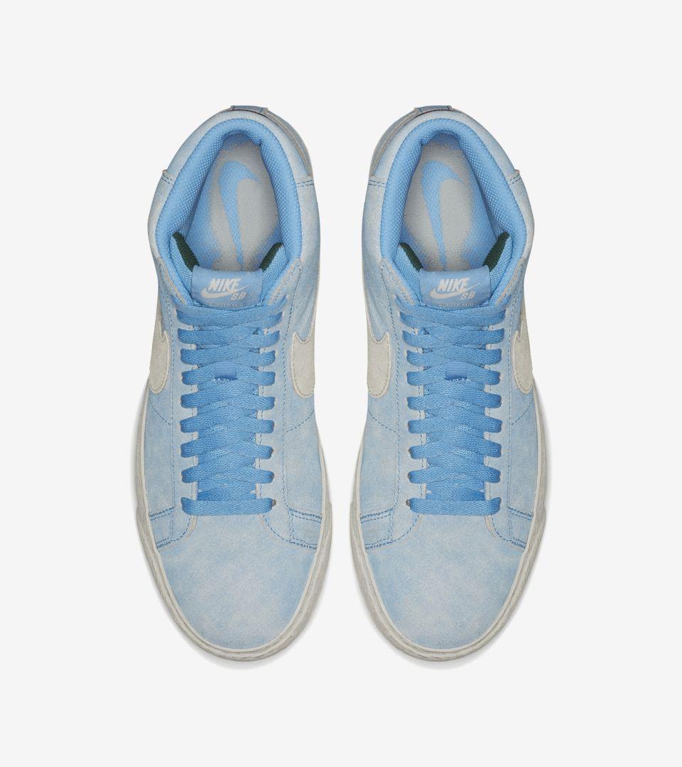7fd25ba491f96 Nike SB Blazer Mid  University Blue   Light Bone  Release Date. Nike+ SNKRS