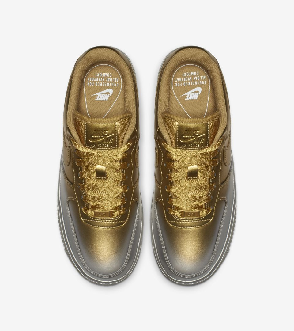 Women's Air Force 1 'Metallic Gold & Metallic Platinum' Release Date