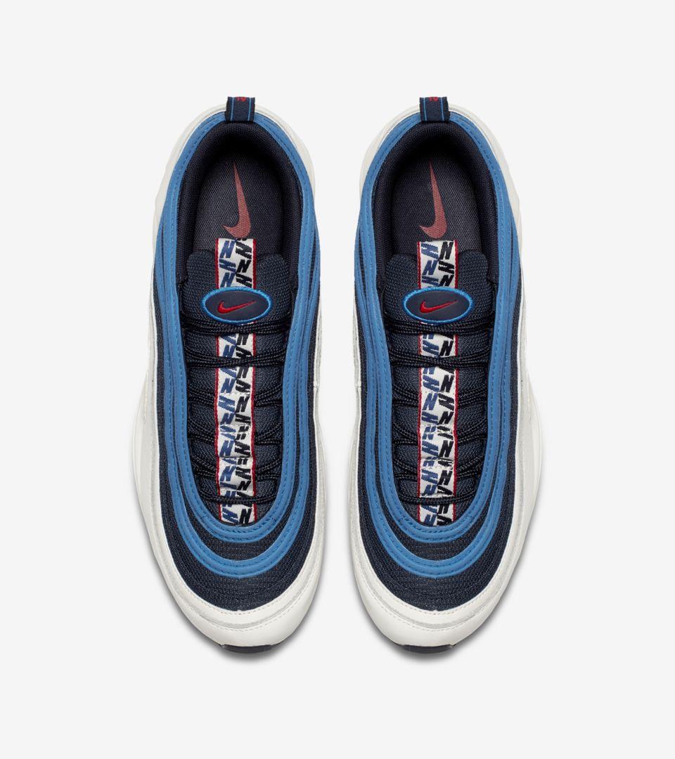 Nike Air Max 97  Obsidian  amp  Sail  Release Date. Nike+ Launch GB 80836b303d