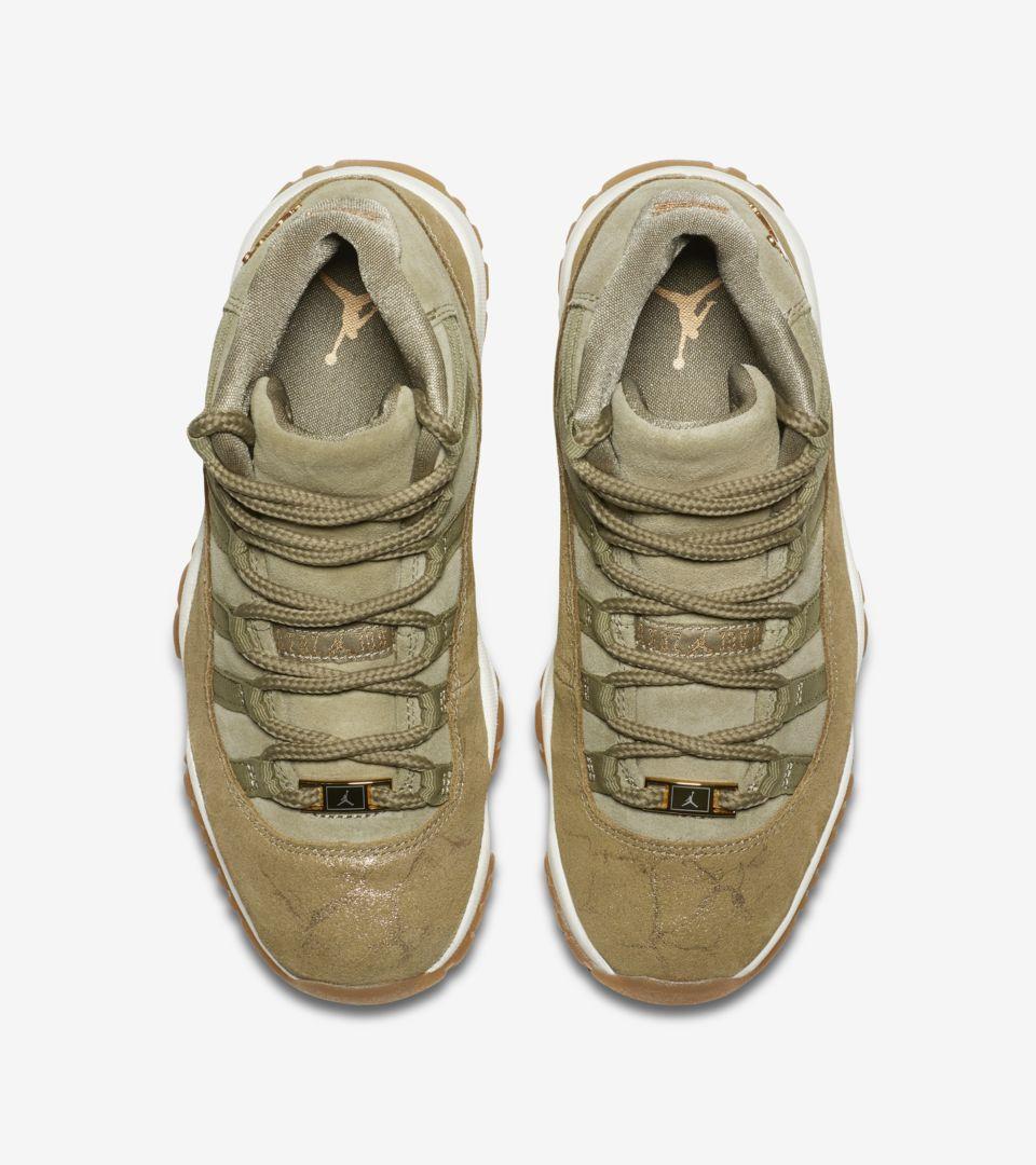 1456b537704 Women's Air Jordan 11 'Neutral Olive & Sail & Gum Light Brown ...