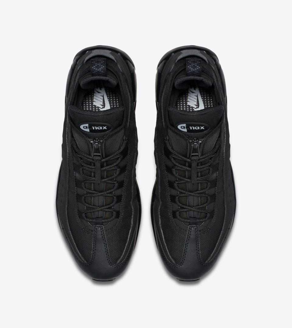 new arrivals 54ff7 f4fdc Nike Air Max 95 Sneakerboot 'Triple Black'. Nike+ SNKRS