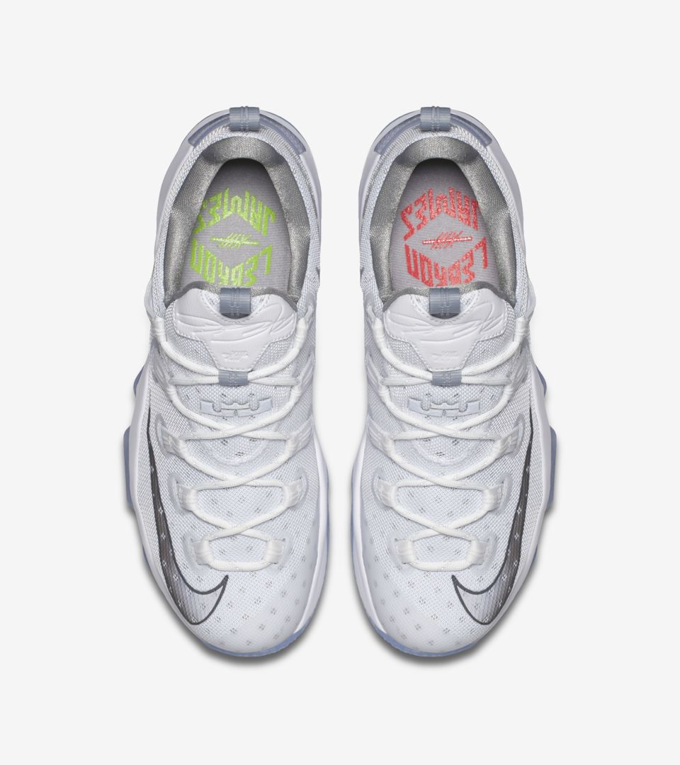 Nike Lebron 13 Low  White Silver  Release Date. Nike⁠+ SNKRS f77437fa6