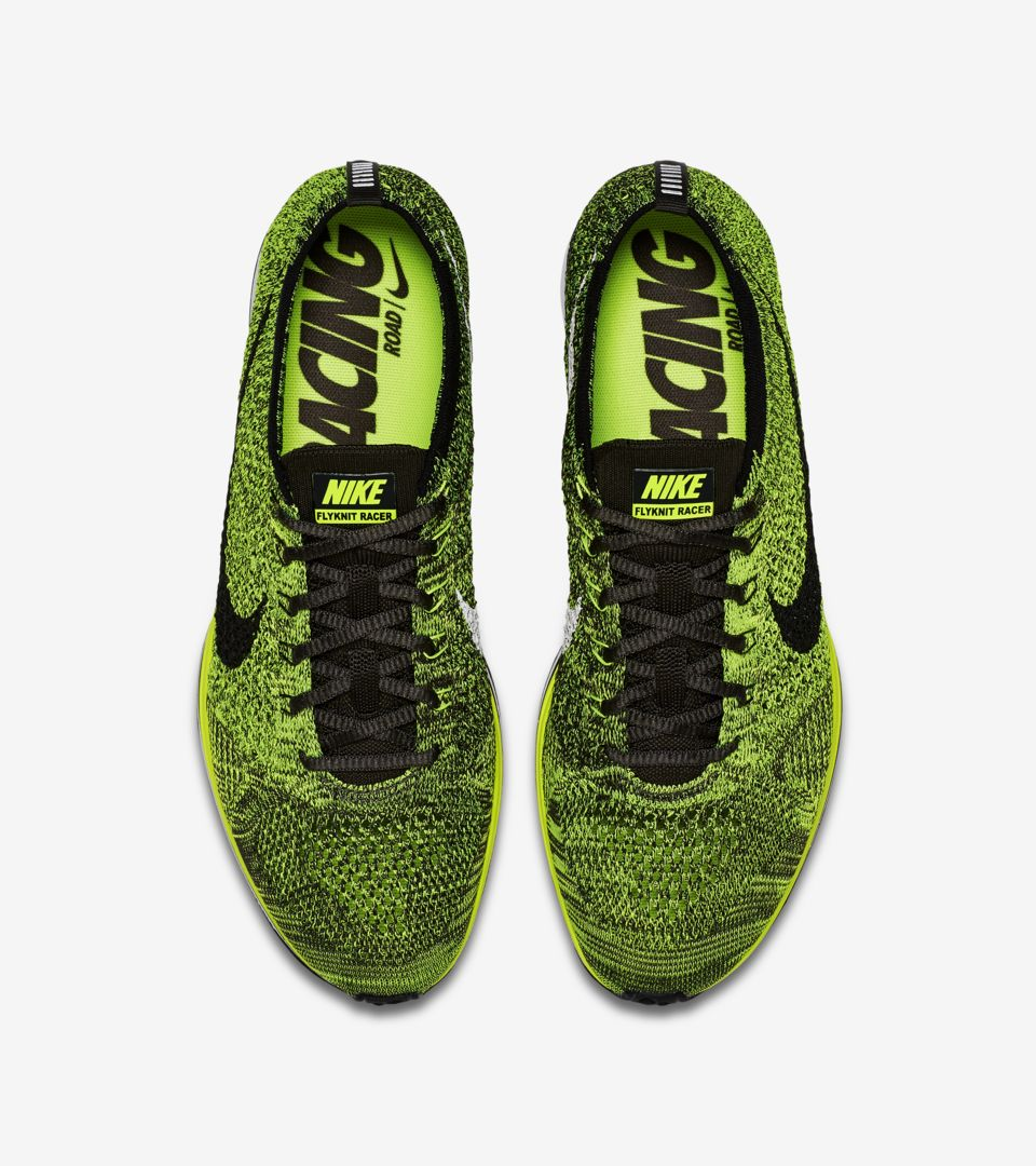 5c4627c4fa526 Nike Flyknit Racer  Volt  Release Date. Nike⁠+ SNKRS