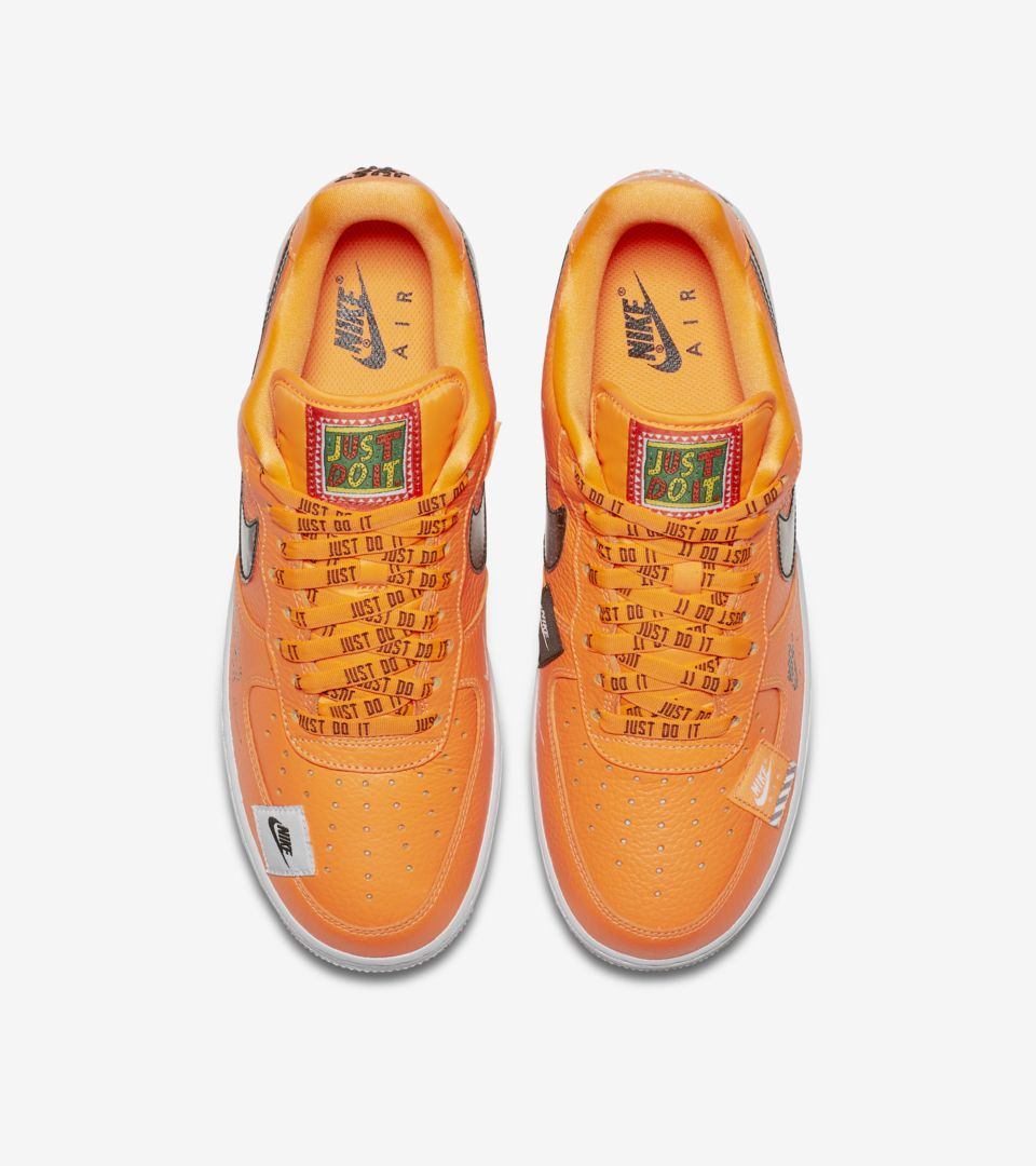 8a9620fca4c61 Nike Air Force 1 Premium Just Do It Collection  Total Orange  Release Date.  Nike⁠+ SNKRS