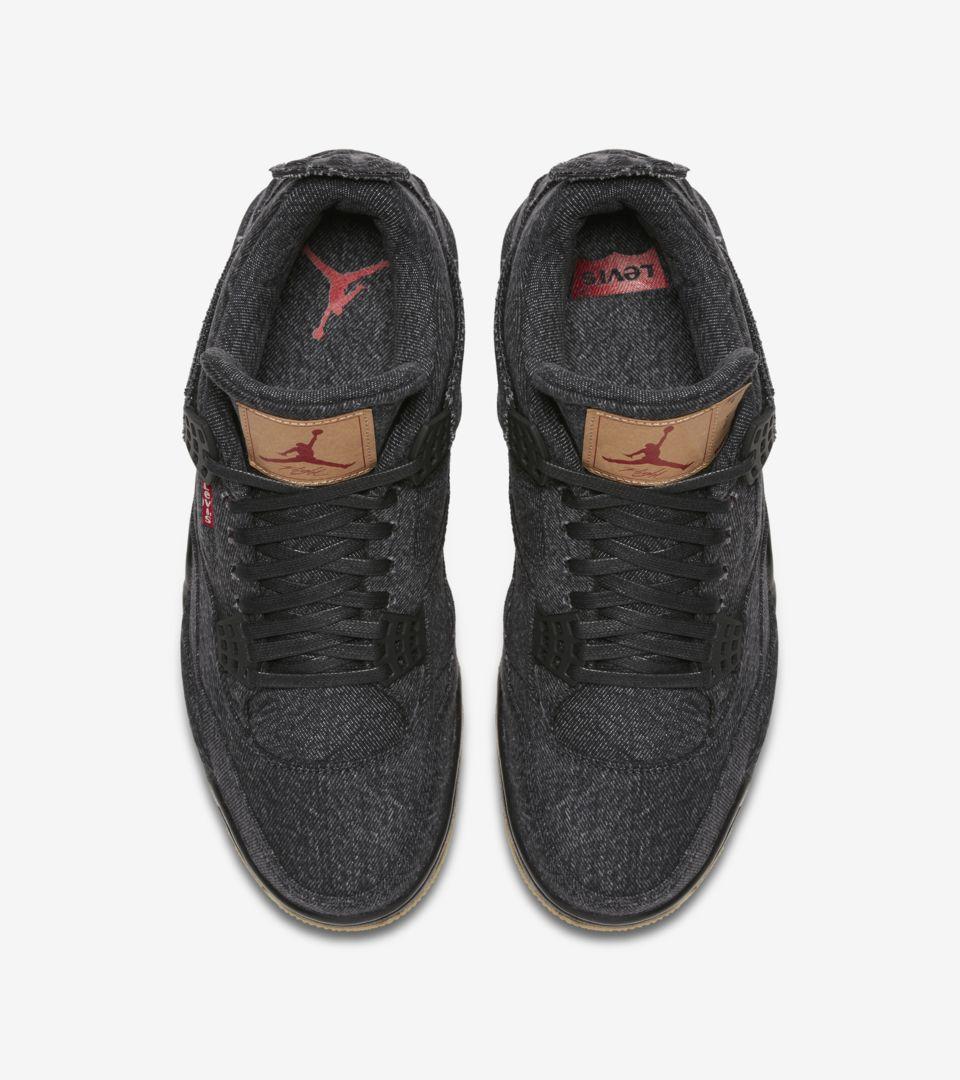 new concept 1a922 a7d37 Air Jordan 4 Levi's 'Triple Black' Release Date. Nike+ ...