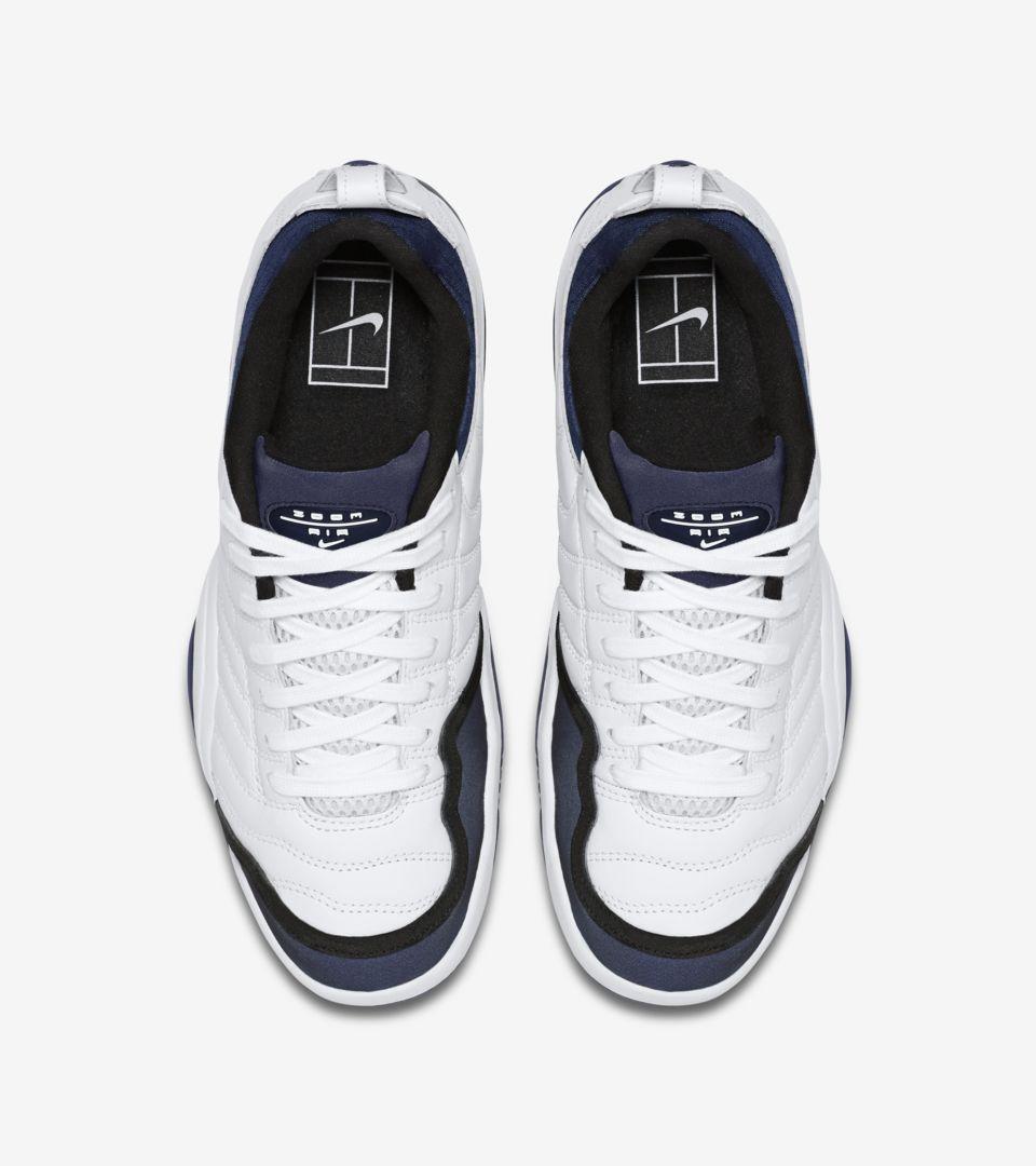 b0556b18ac91 NikeCourt Air Oscillate Sampras  White   Navy . Nike+ SNKRS