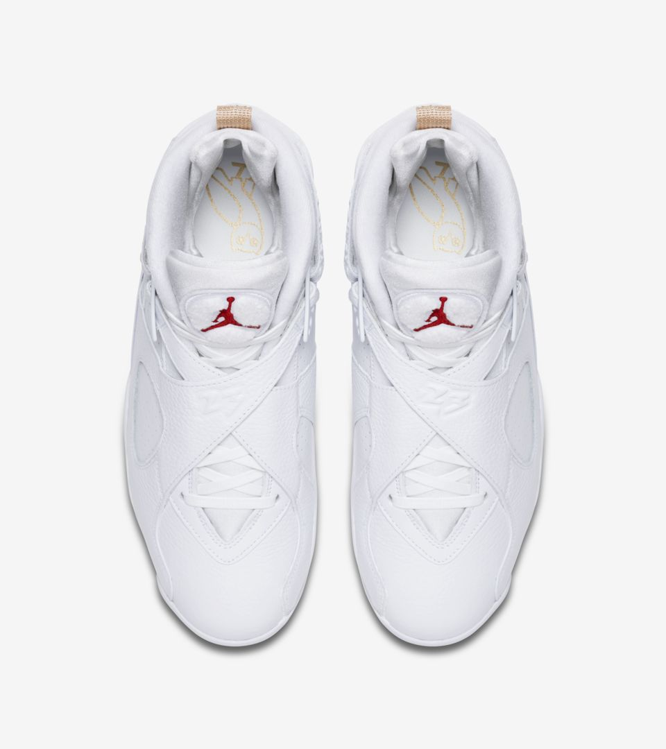 new style 2d045 50f42 Air Jordan 8 Retro OVO  White  amp  Metallic Gold  Release Date ...