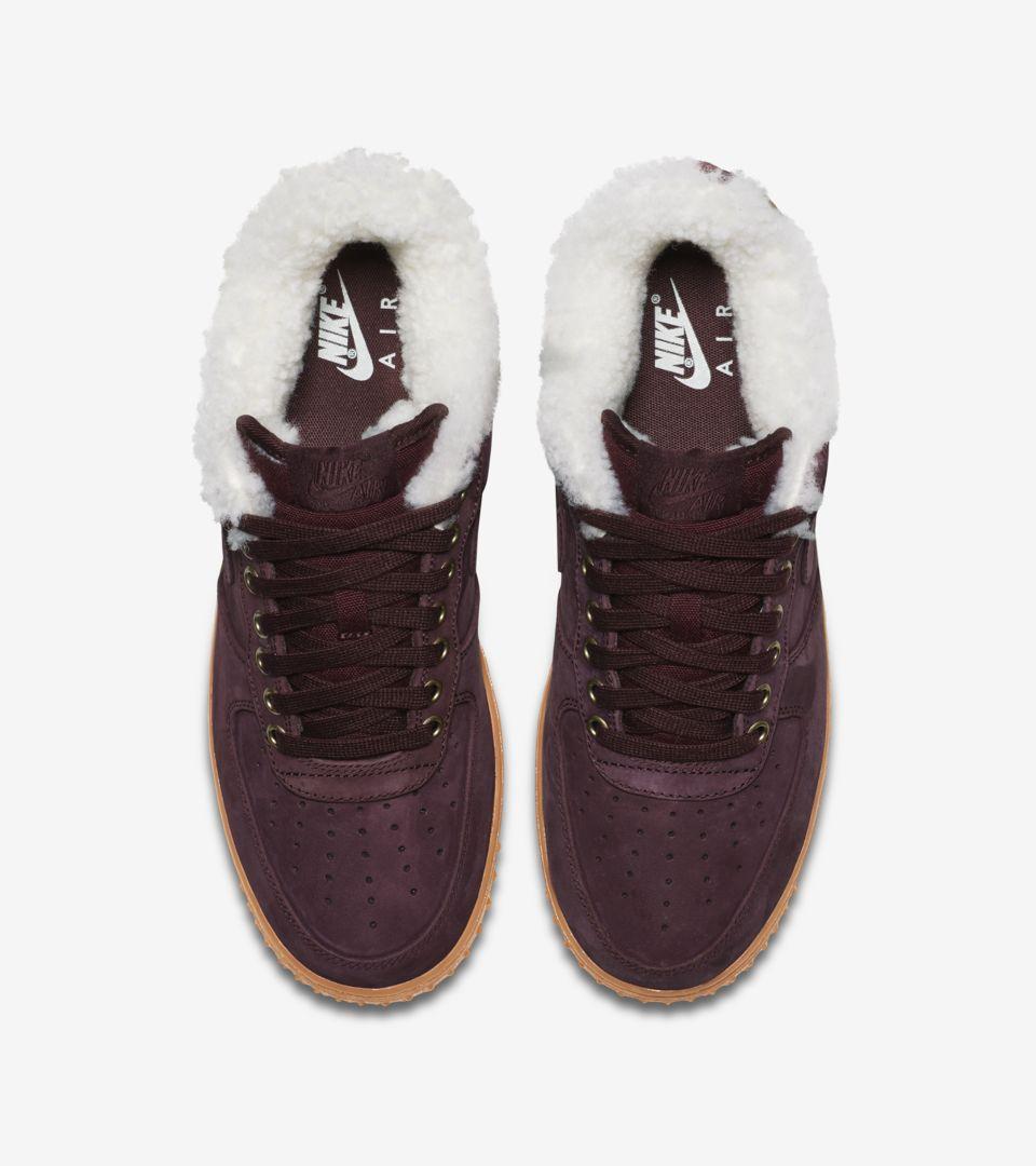 Nike Air Force 1 Premium Winter 'Burgundy Crush & Gum Light Brown' Release Date