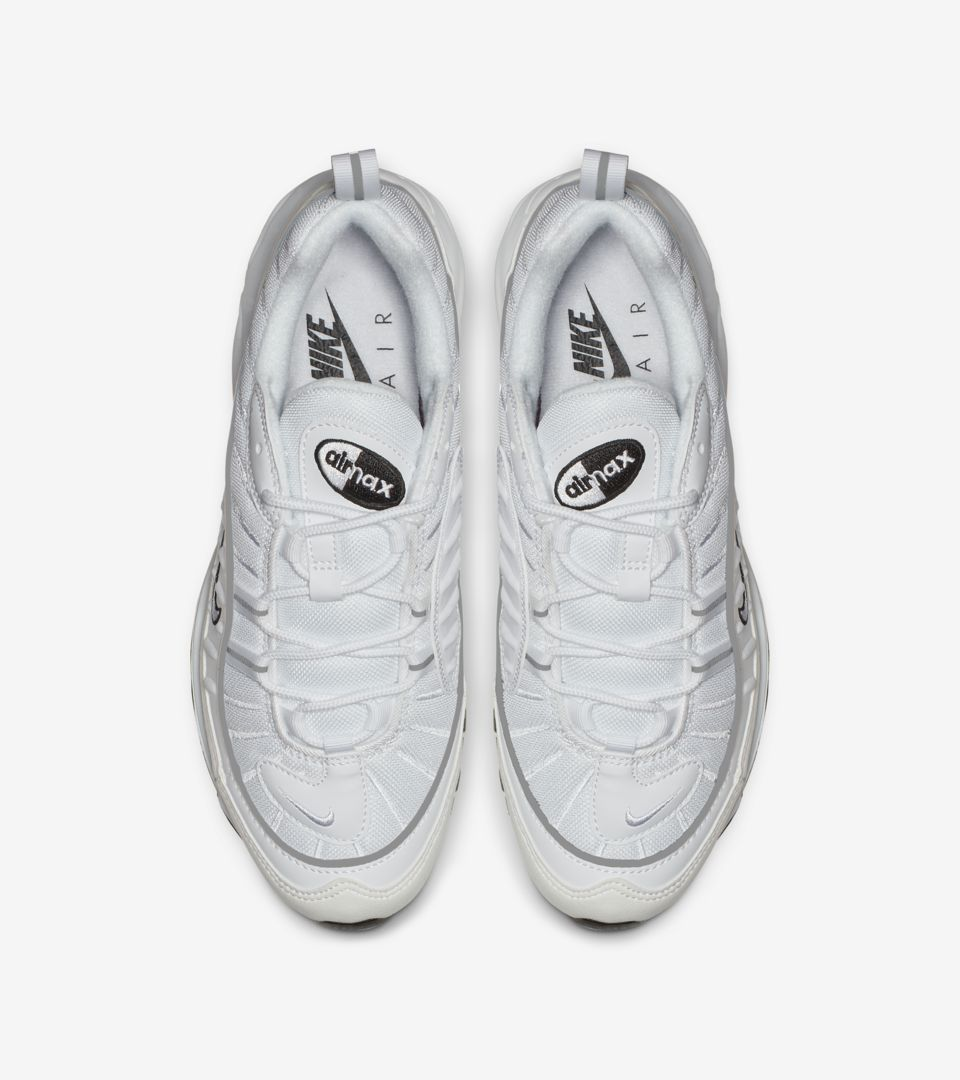 pretty nice a0af7 d4baa Nike Women's Air Max 98 'White & Reflective Silver' Release ...