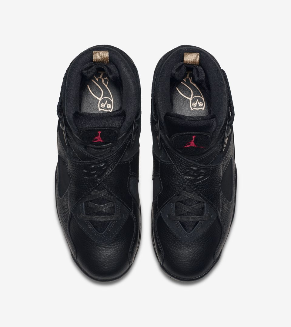 4fffbb89e094 Air Jordan 8 Retro OVO  Black   Metallic Gold  Release Date. Nike⁠+ ...
