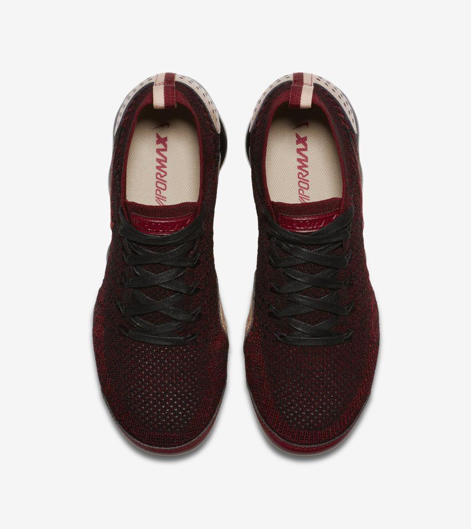 d60c127a76 ... Nike Air Vapormax Flyknit 2 NRG 'Team Red & Black & Vachetta Tan' ...