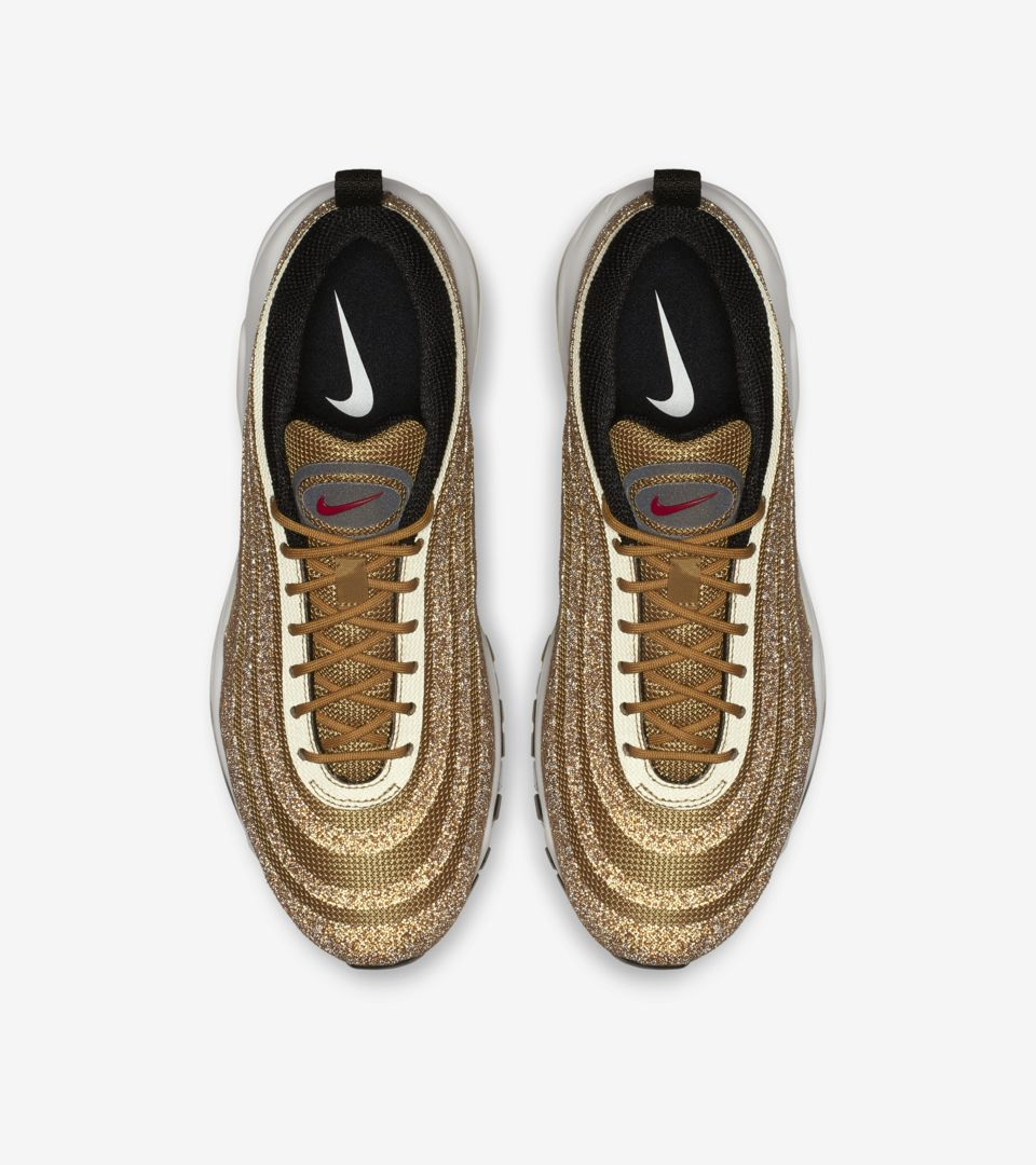 new styles 9e3a9 d7189 ... Womens Nike Air Max 97 Gold Swarovski Crystal ...