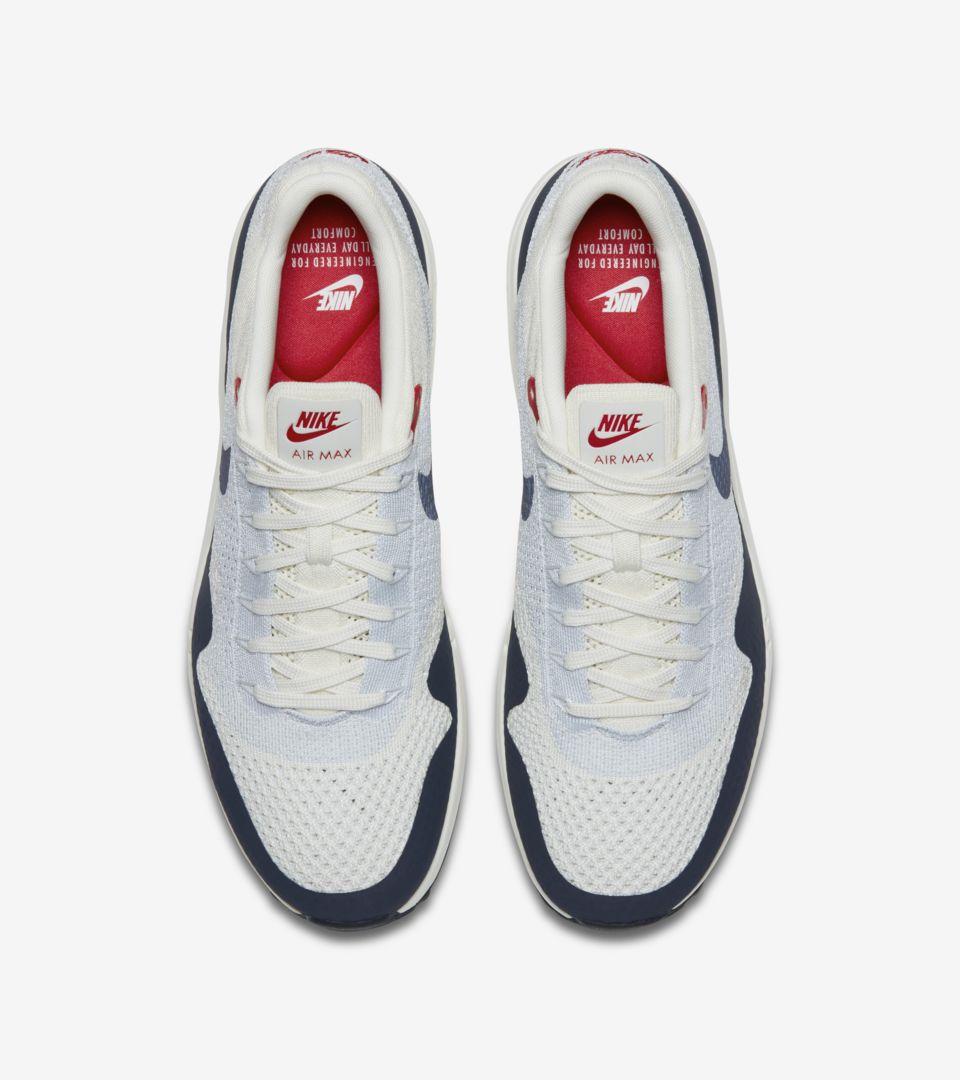 95dcb61573e8a Nike Air Max 1 Ultra 2.0 Flyknit  Sail   Obsidian . Nike+ SNKRS