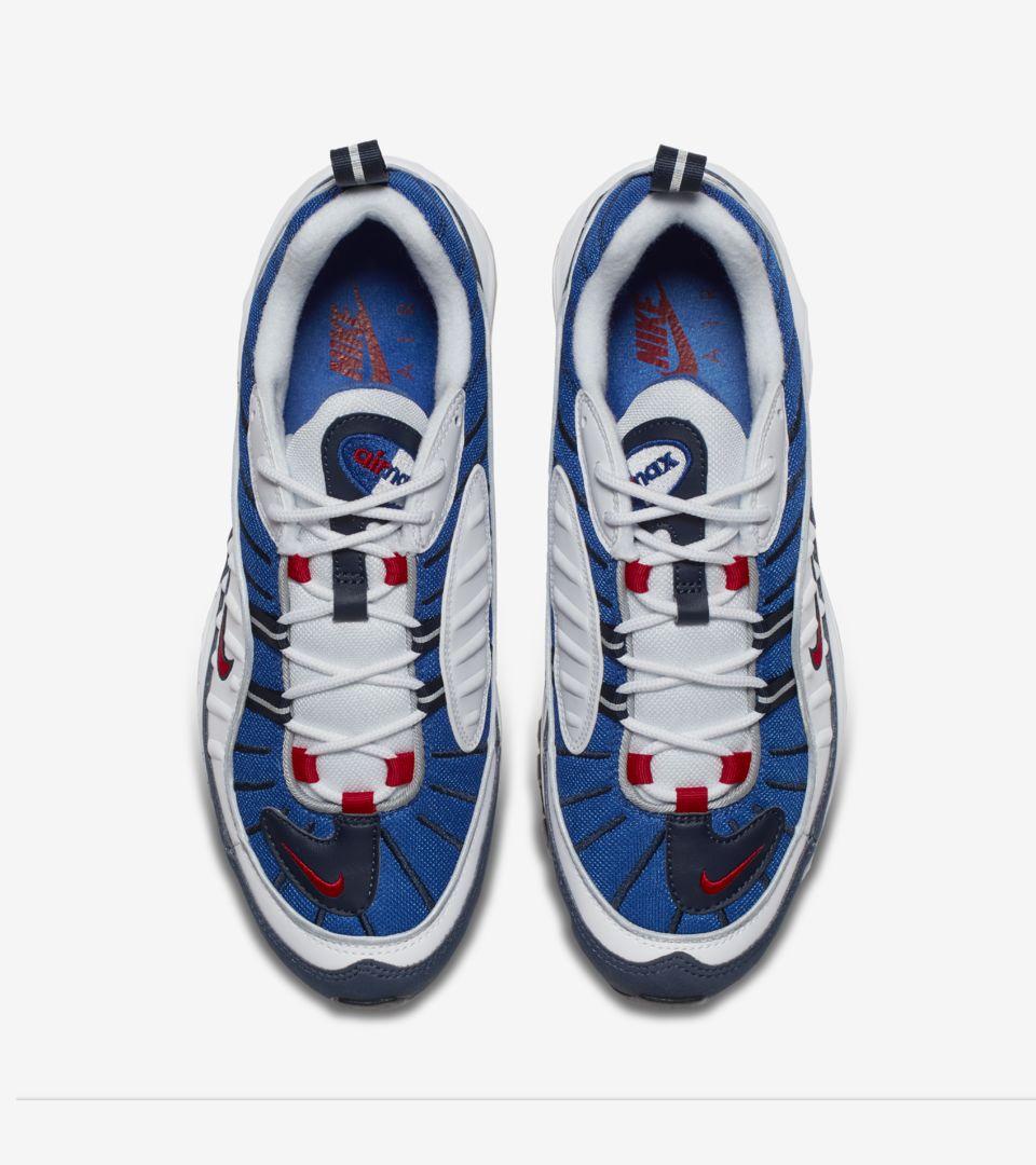 1dad4eff2c3 Nike Air Max 98  White  amp  University Red  amp  Royal Blue ...