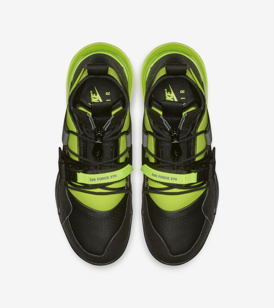 size 40 acdff 08f79 ... Nike Air Force 270 Utility  Black   Volt  ...