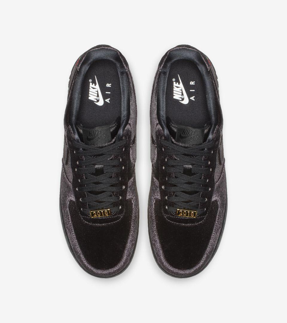 Nike Air Force 1 Velvet 'Black & White' Release Date