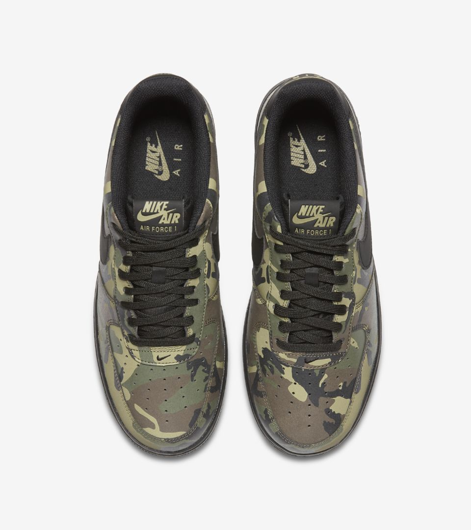 b8e10fc7a354 Nike Air Force 1 Low 07  Medium Olive Camo Reflective  Release Date. Nike+  SNKRS