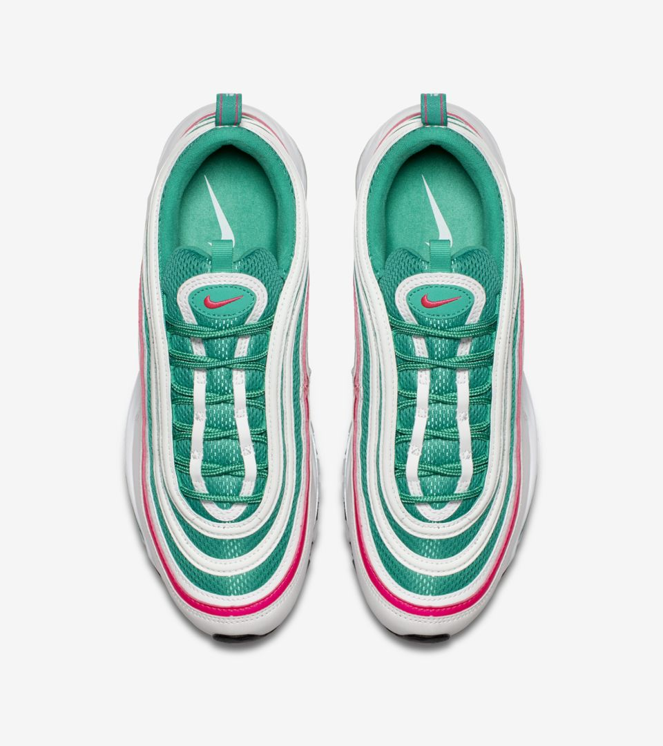 fcf5a5a00346ba Nike Air Max 97  White   Kinetic Green   Pink Blast  Release Date ...