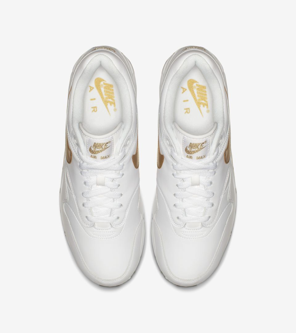 new arrivals 5857b b343e ... Nike Air Max 90 1  White   Metallic Gold  ...