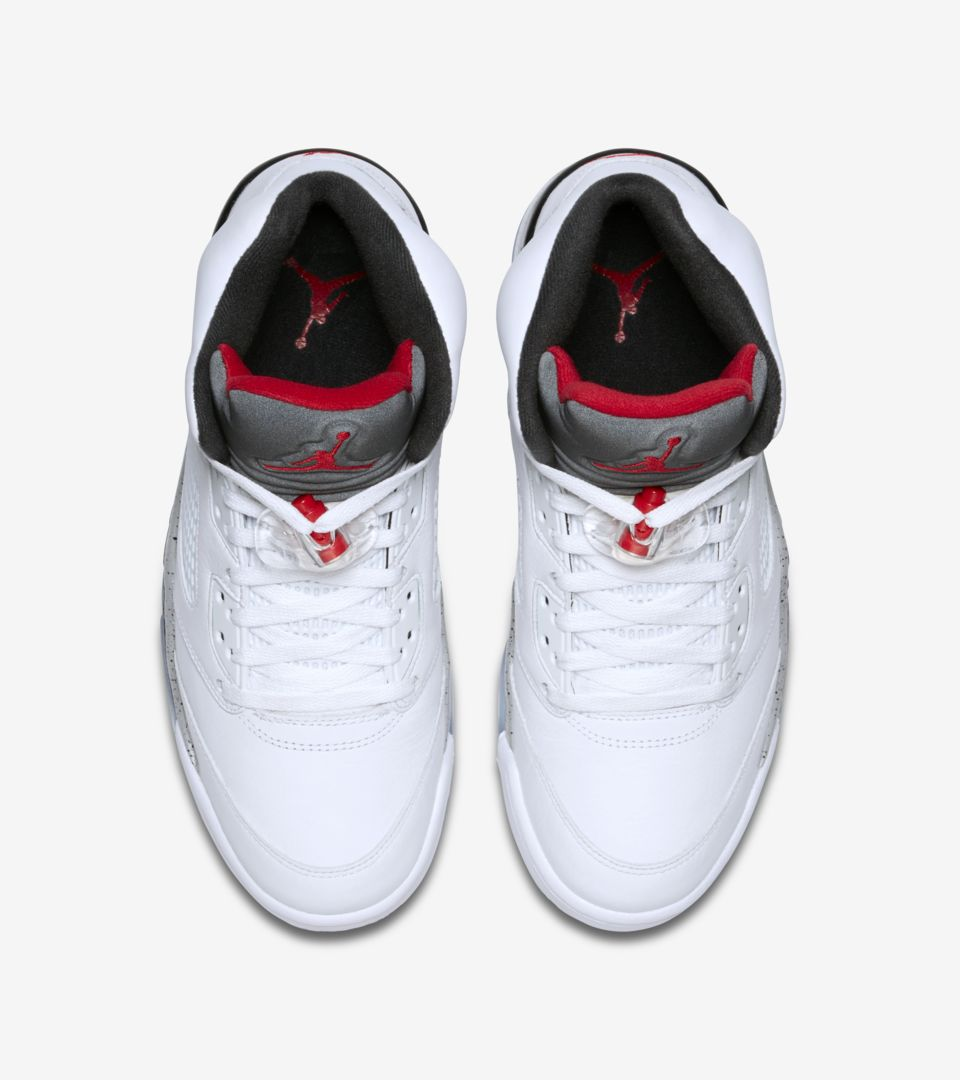 7907a84f078 Air Jordan 5 Retro  White   Black   University Red  Release Date ...