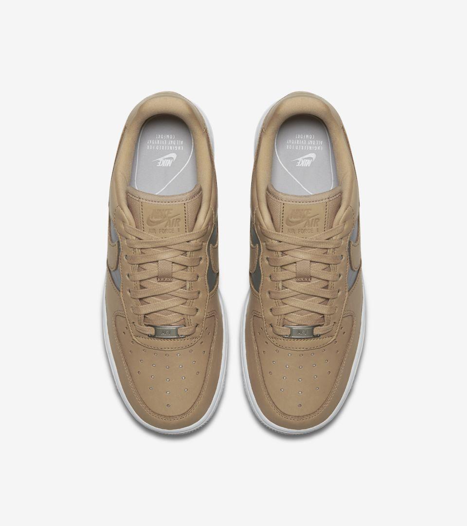cde52d70eee0fe Nike Women s Air Force 1  Bio Beige   Metallic Silver  Release Date ...