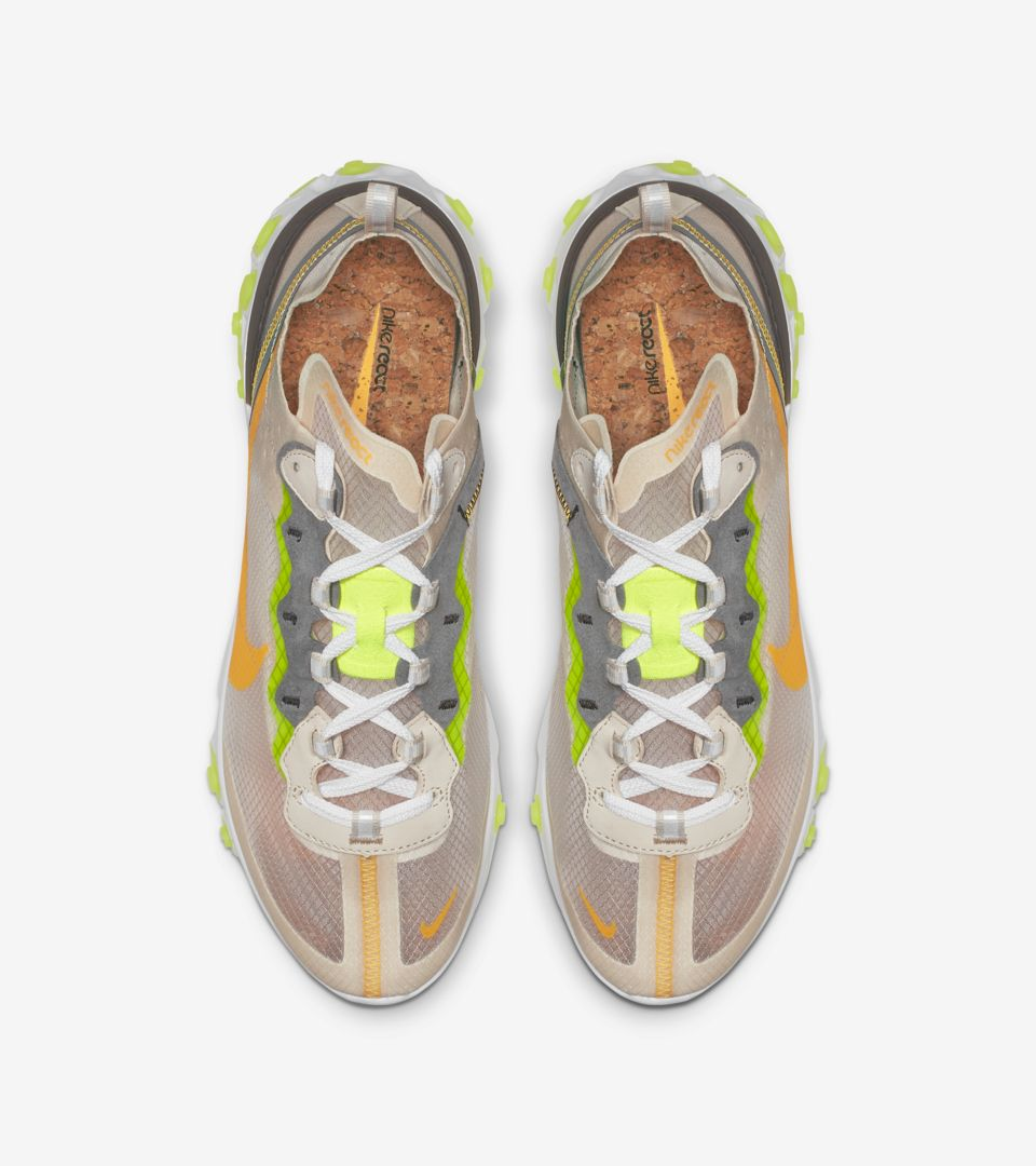 Nike React Element 87 'Light Orewood Brown & Volt Glow & Cool Grey' Release Date