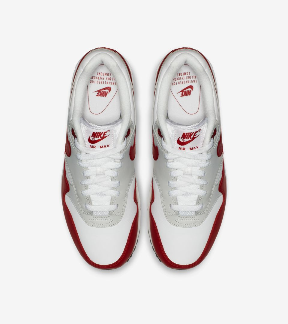 Nike Air Max 1 'Leather' White University Red