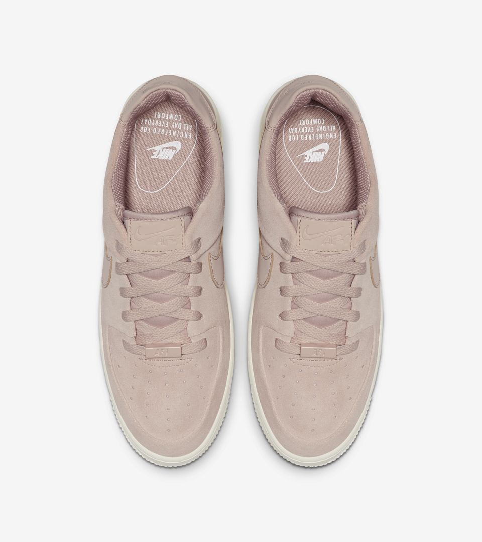 38fdeba02 ... Release Date Nike Women s Air Force 1 Sage Low  Particle Beige   Phantom   ...