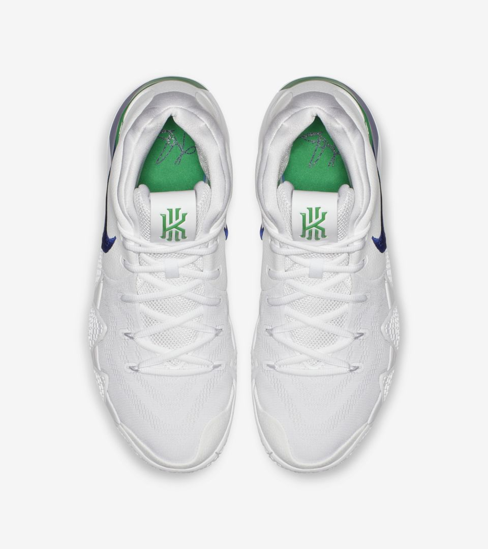 558cebf3d495 Nike Kyrie 4  White  amp  Deep Royal Blue  Release Date. Nike+ ...