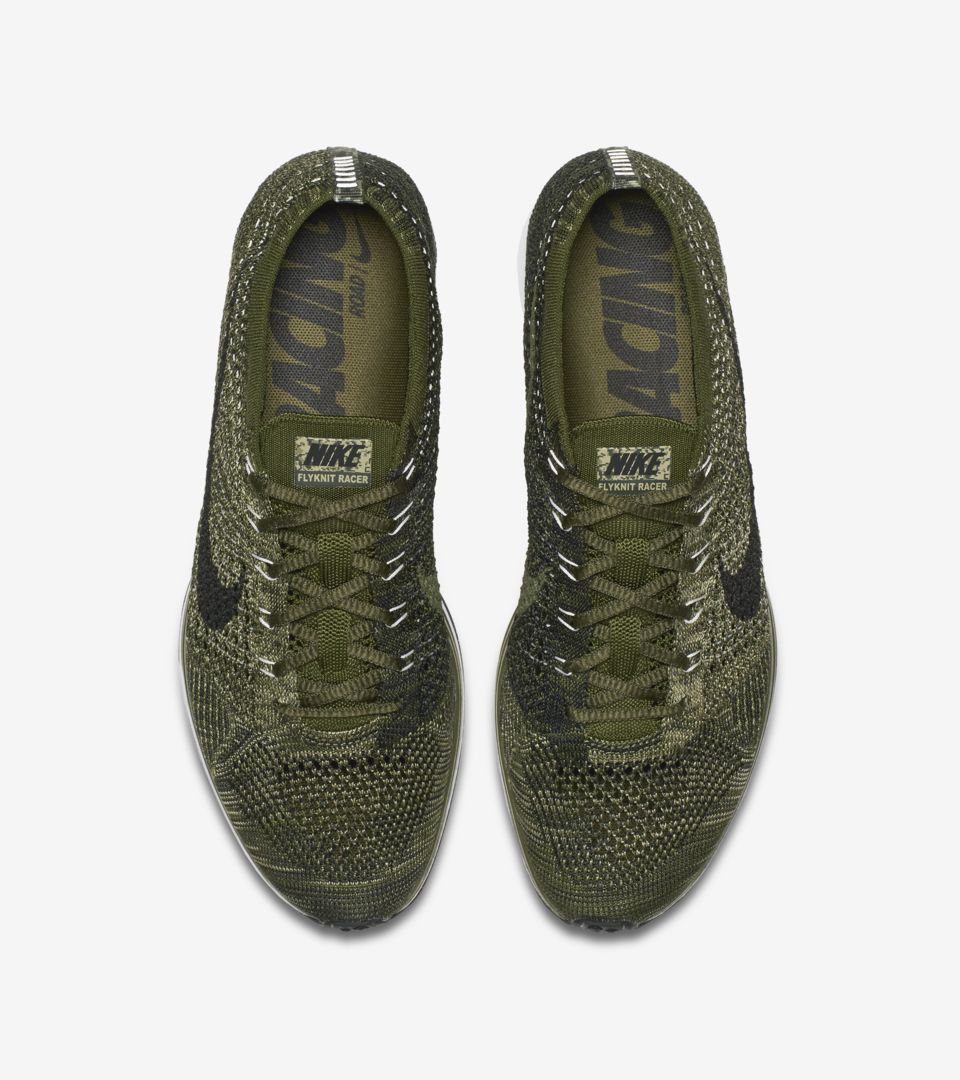 e3ad250c65c4 Nike Flyknit Racer  Rough Green . Nike⁠+ Launch GB