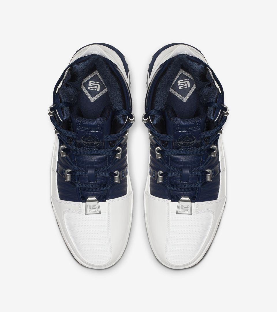Zoom Lebron 3 'White & Midnight Navy & Metallic Silver' Release Date