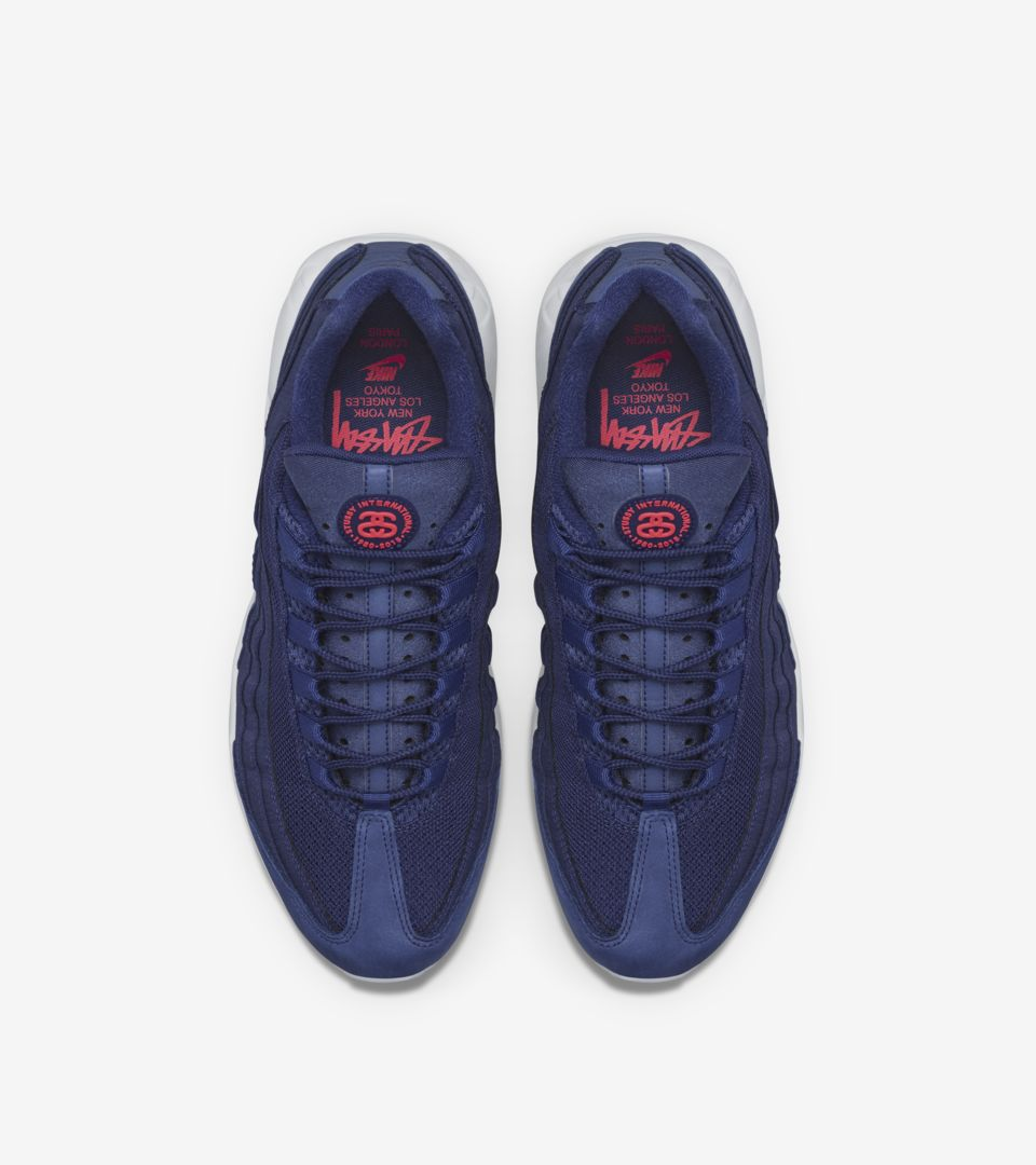 sneakers for cheap 78187 af47c Nike Air Max 95 Stussy 'Loyal Blue'. Nike+ SNKRS