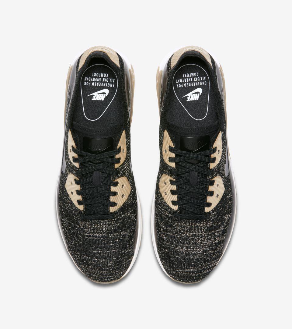 online store c61e9 df430 Women's Nike Air Max 90 Ultra 2.0 Flyknit Metallic 'Black & Metallic ...