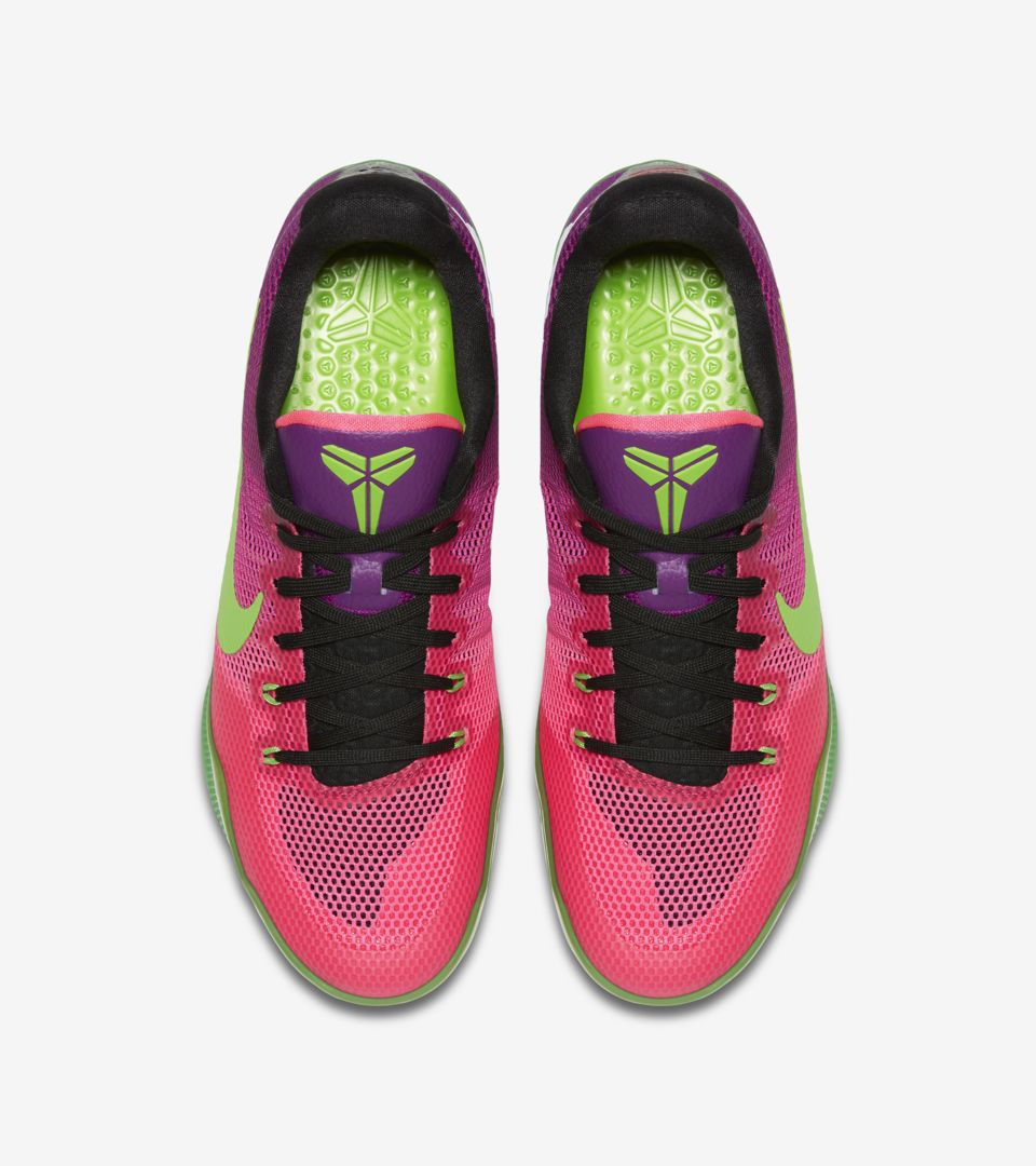 timeless design 1941a 354e2 Nike Kobe 11 Mambacurial 'Pink Flash & Action Green' Release ...