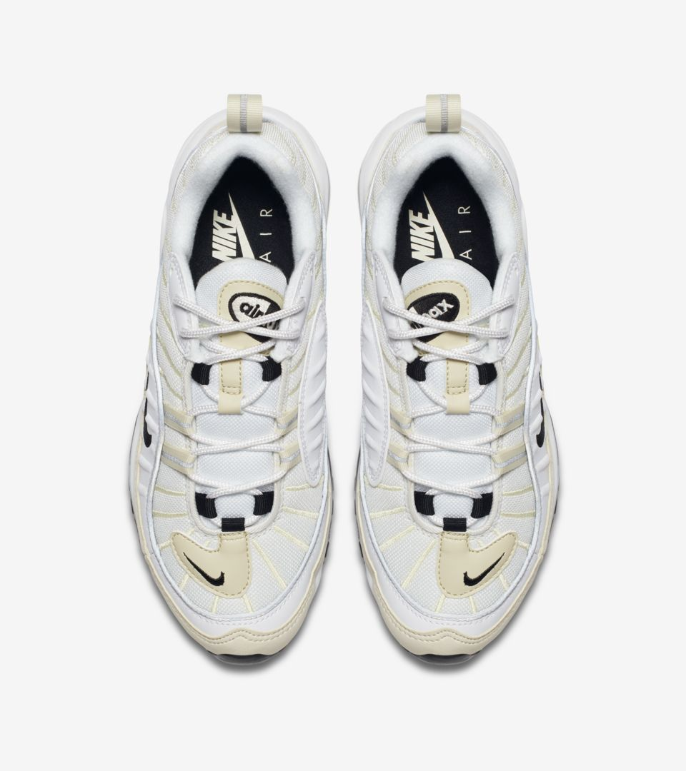 timeless design a4eed a53e8 Nike Women's Air Max 98 'White & Black & Fossil' Release ...