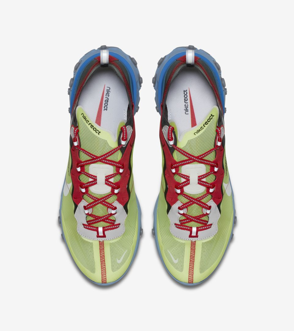 dfd23036b935 ... Nike React Element 87 Undercover  Volt   Black   University Red  ...